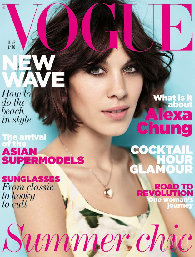 Alexa Chung featured on the Vogue UK cover from June 2011