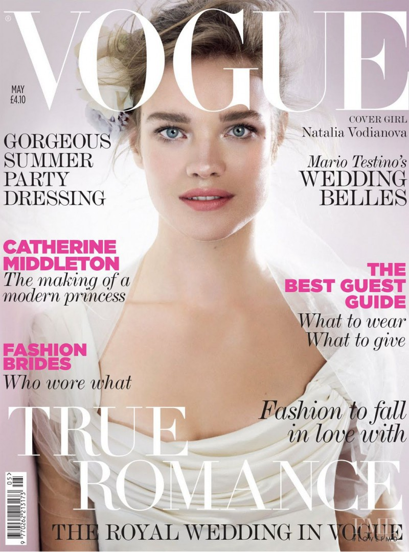 Natalia Vodianova featured on the Vogue UK cover from May 2011