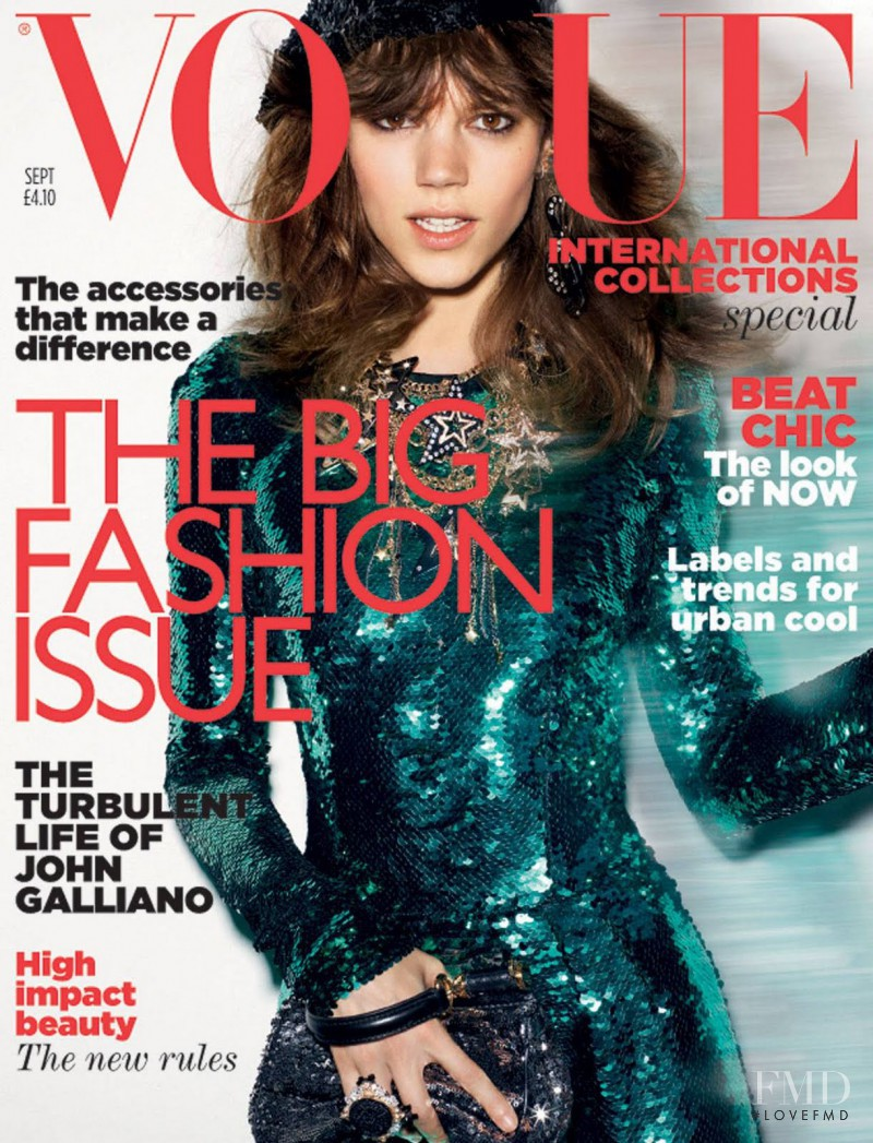 Freja Beha Erichsen featured on the Vogue UK cover from September 2011