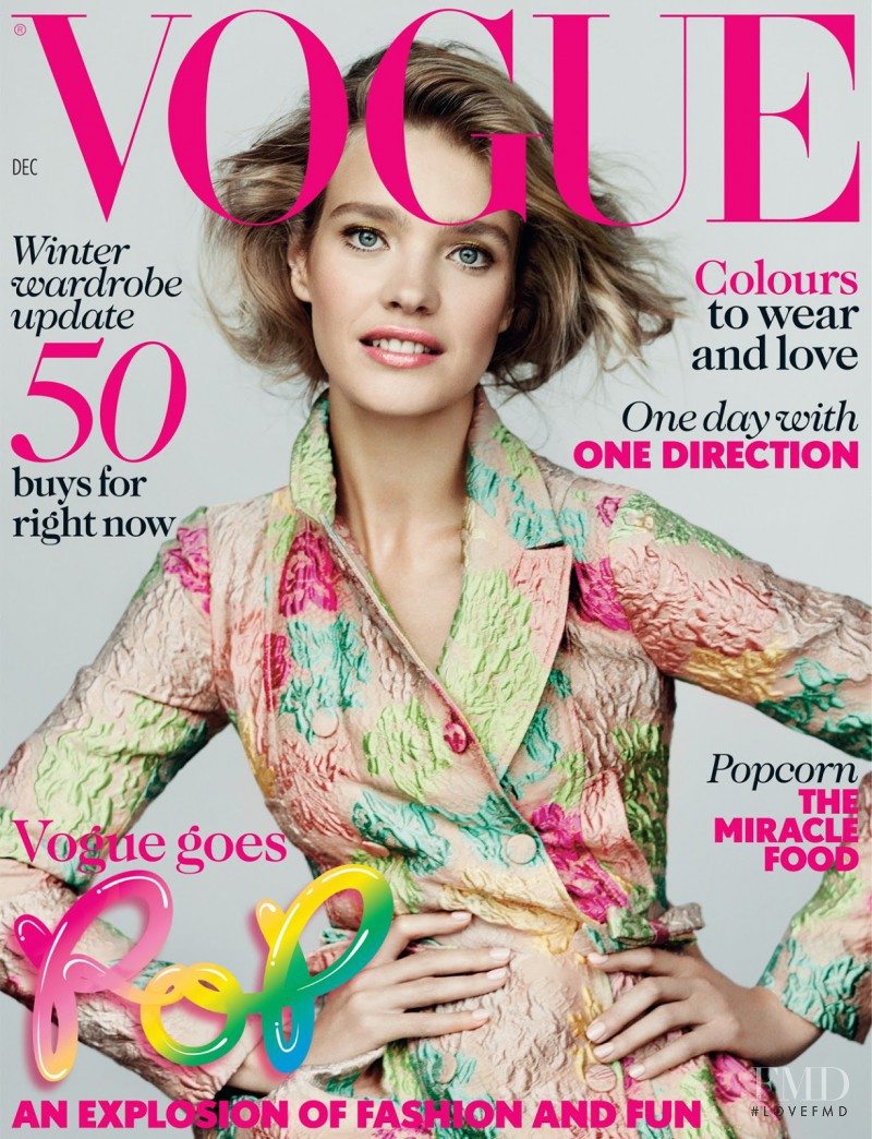 Natalia Vodianova featured on the Vogue UK cover from December 2012
