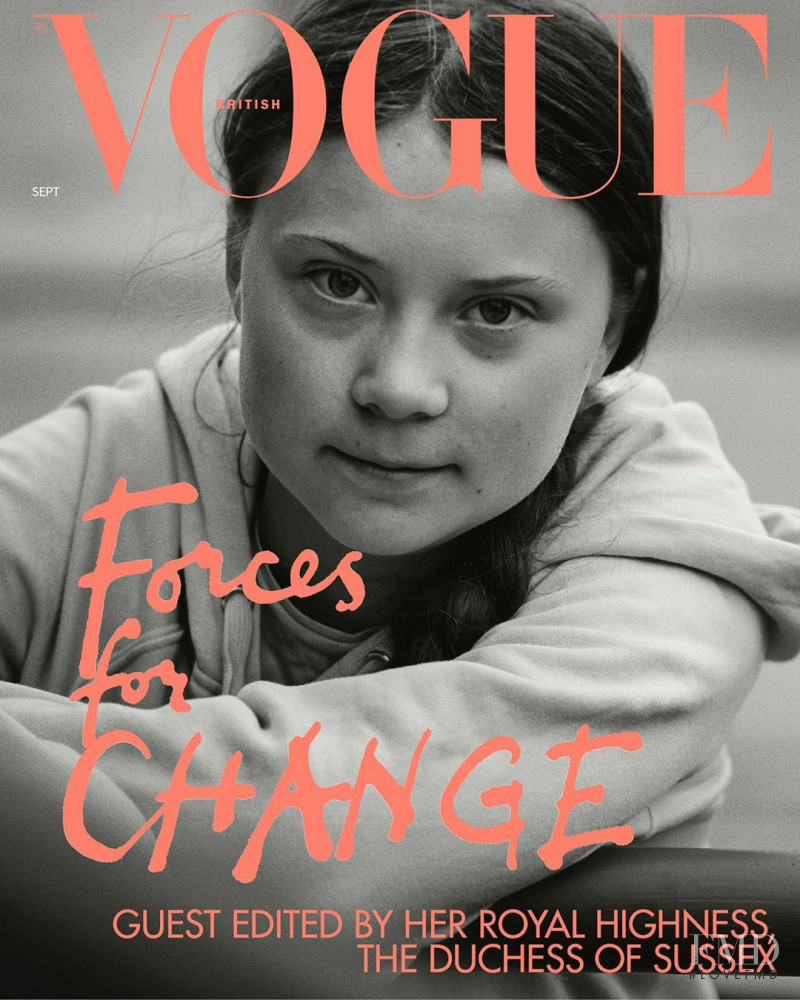 Cover of Vogue UK with Greta Thunberg , September 2019 (ID