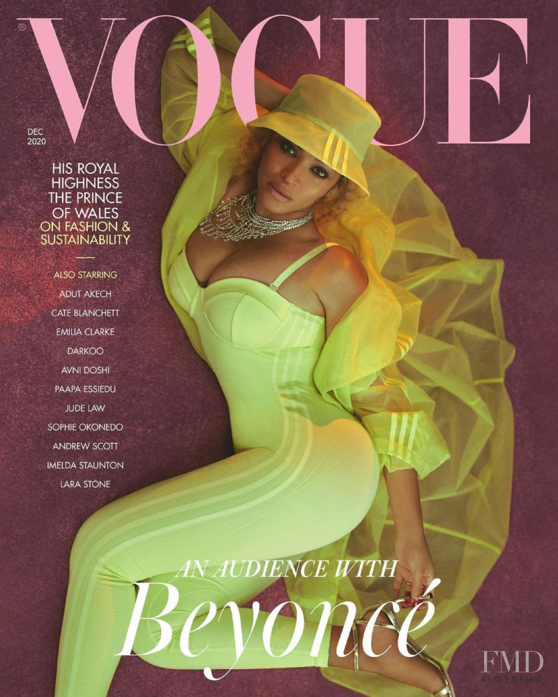 Beyonce featured on the Vogue UK cover from December 2020