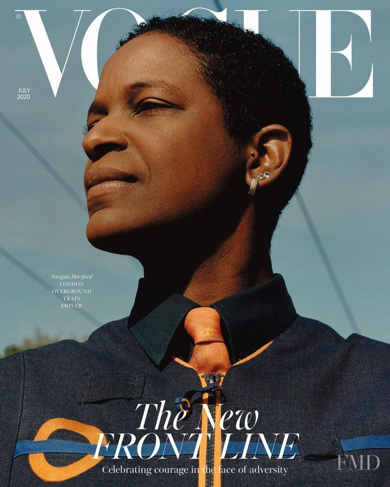 Narguis Horsford featured on the Vogue UK cover from July 2020