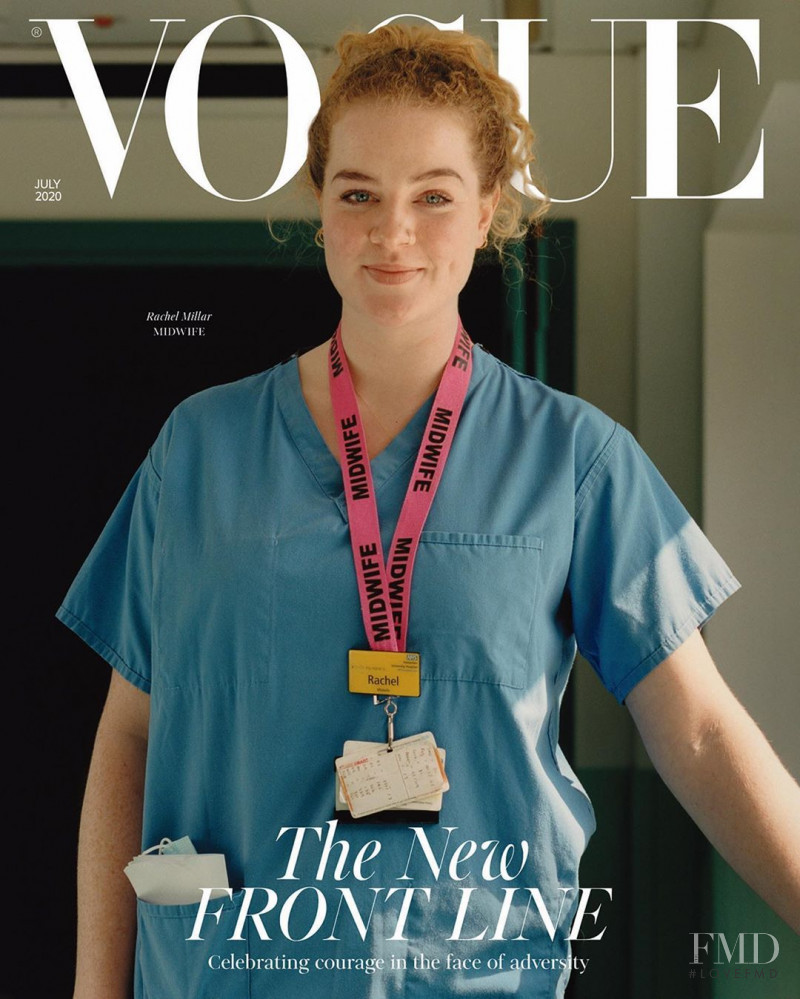 Rachel Millar featured on the Vogue UK cover from July 2020
