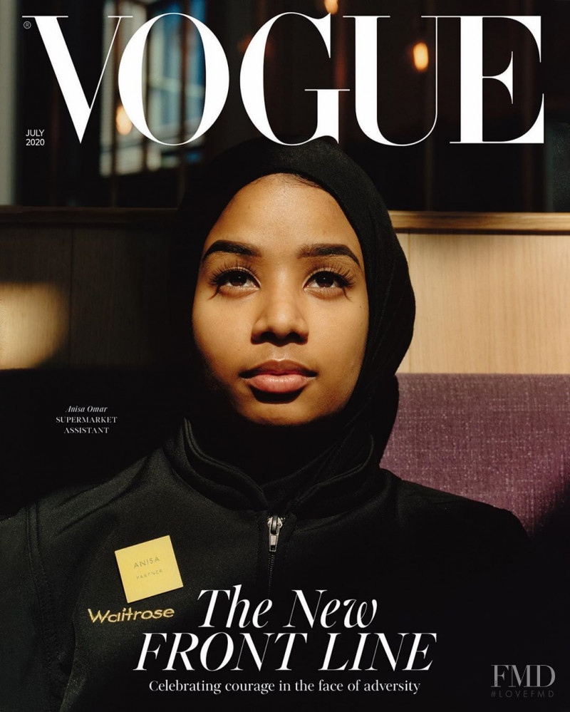 Anisa Omar featured on the Vogue UK cover from July 2020