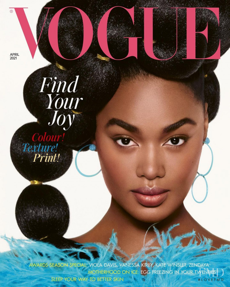 Precious Lee featured on the Vogue UK cover from April 2021