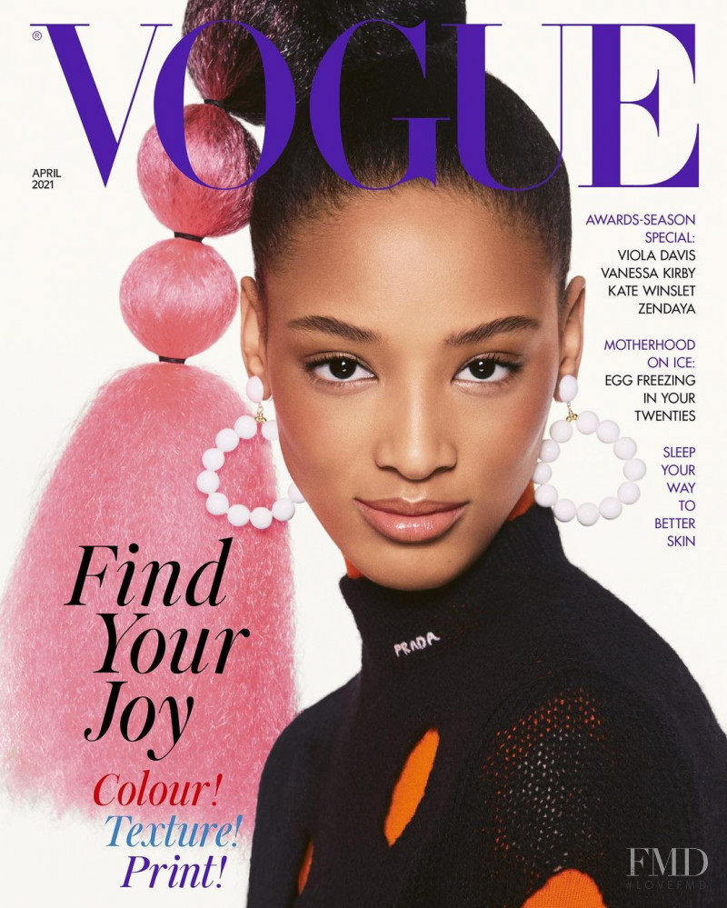 Janaye Furman featured on the Vogue UK cover from April 2021
