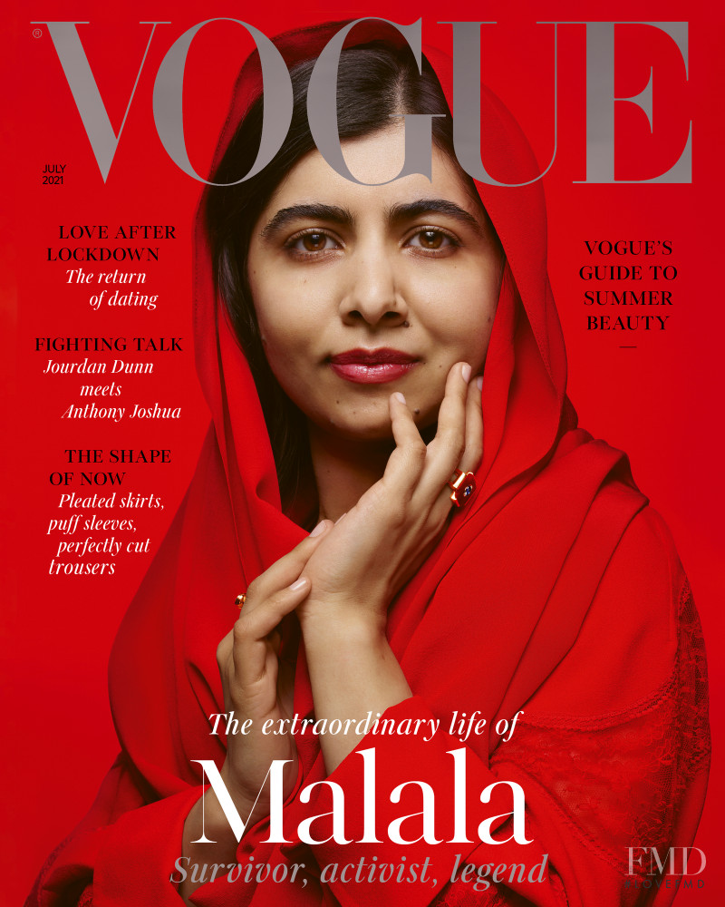 Malala Yousafzai  featured on the Vogue UK cover from July 2021