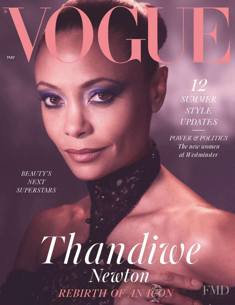 Thandiwe Newton featured on the Vogue UK cover from May 2021