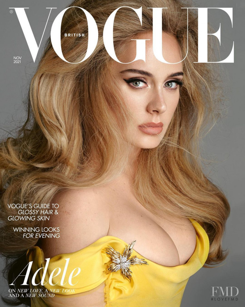 Adele featured on the Vogue UK cover from November 2021