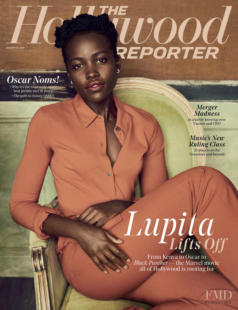 Lupita Nyong'o featured on the The Hollywood Reporter cover from January 2018