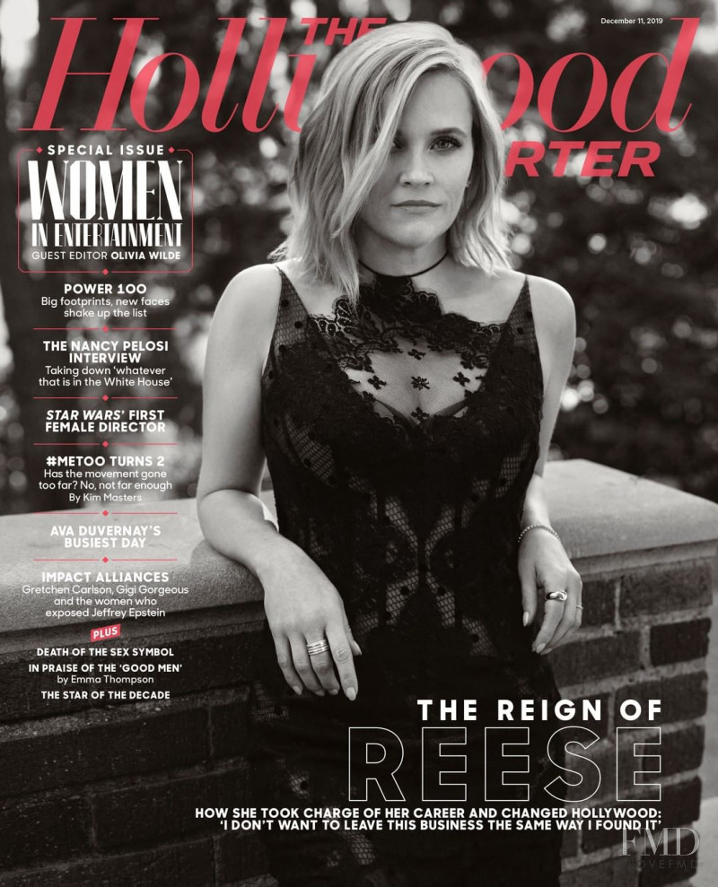 Reese Witherspoon featured on the The Hollywood Reporter cover from December 2019