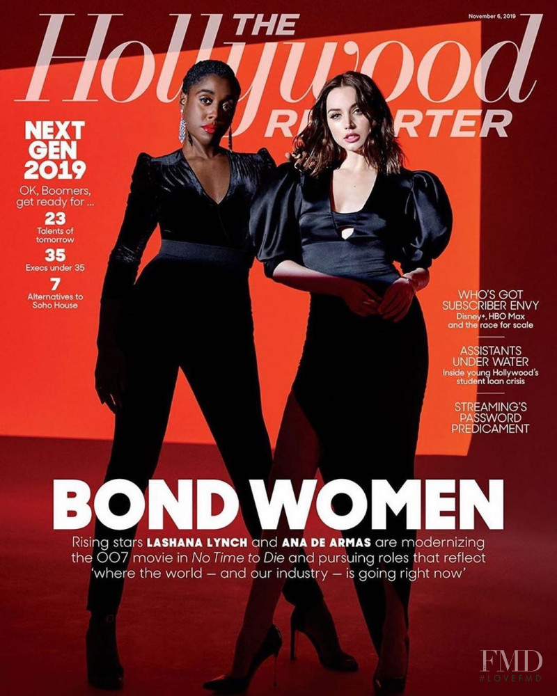 Lashana Lynch, Ana De Armas  featured on the The Hollywood Reporter cover from November 2019