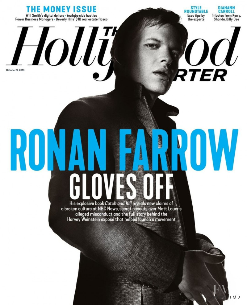 Ronan Farrow featured on the The Hollywood Reporter cover from October 2019