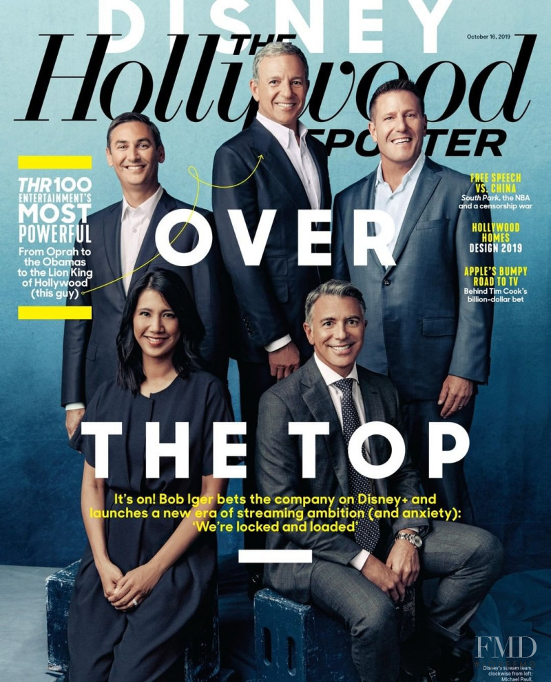 featured on the The Hollywood Reporter cover from October 2019