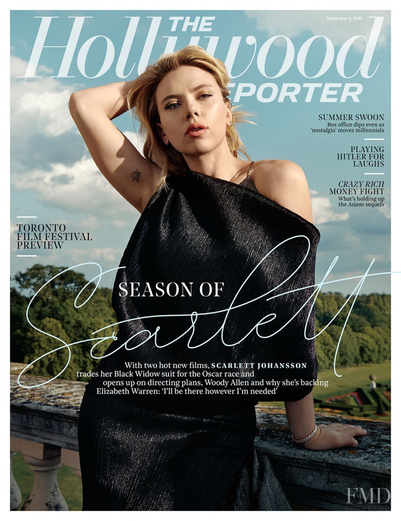 Scarlett Johansson featured on the The Hollywood Reporter cover from September 2019