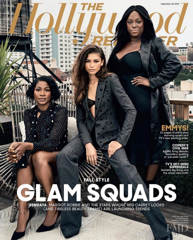 Zendaya, Ursula Stephen, Sheika Daley,  featured on the The Hollywood Reporter cover from September 2019