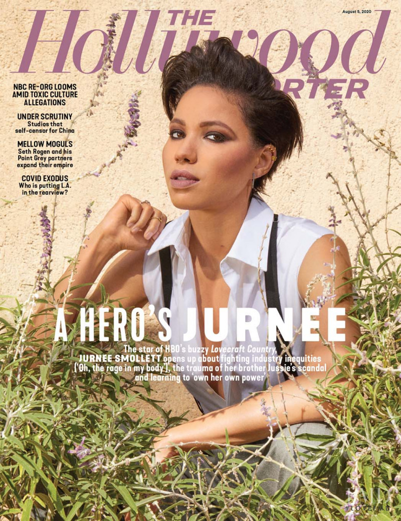 Jurnee Smollett featured on the The Hollywood Reporter cover from August 2020