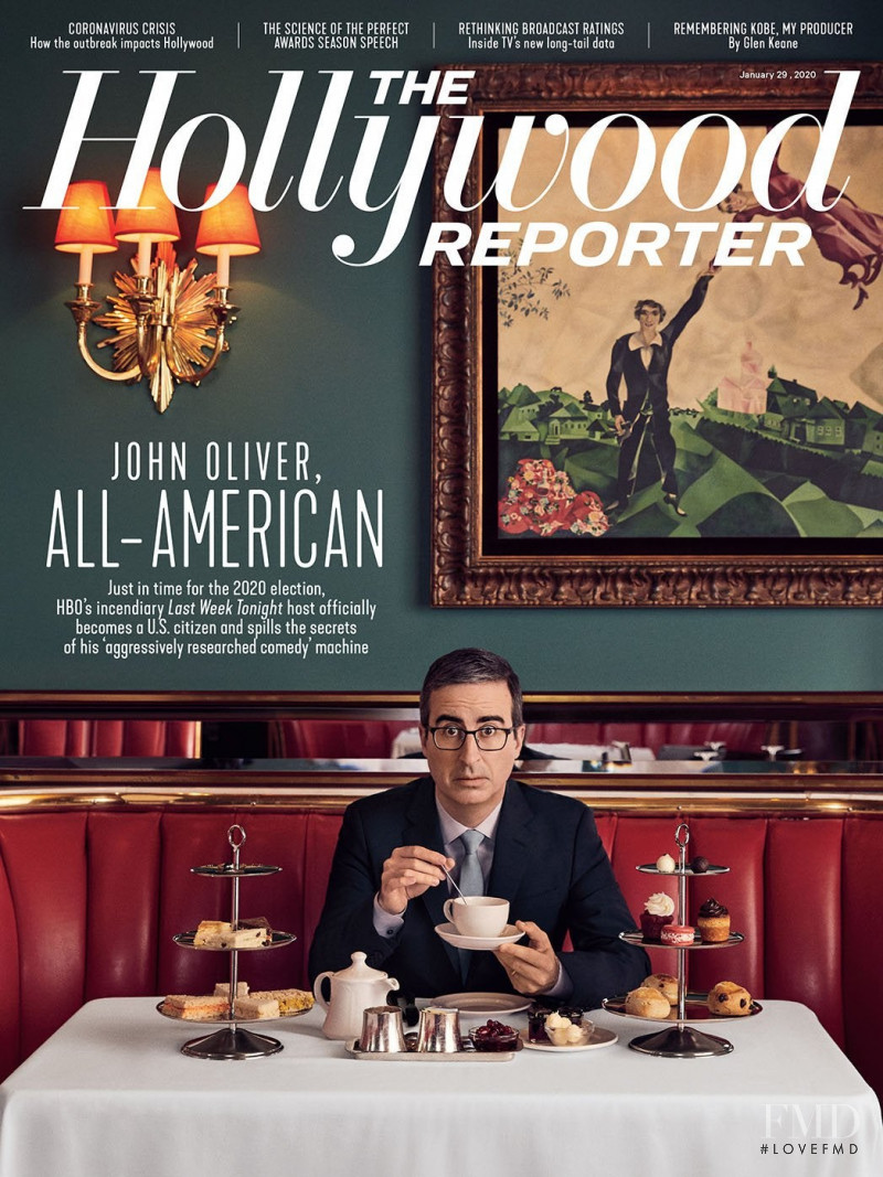 John Oliver featured on the The Hollywood Reporter cover from January 2020