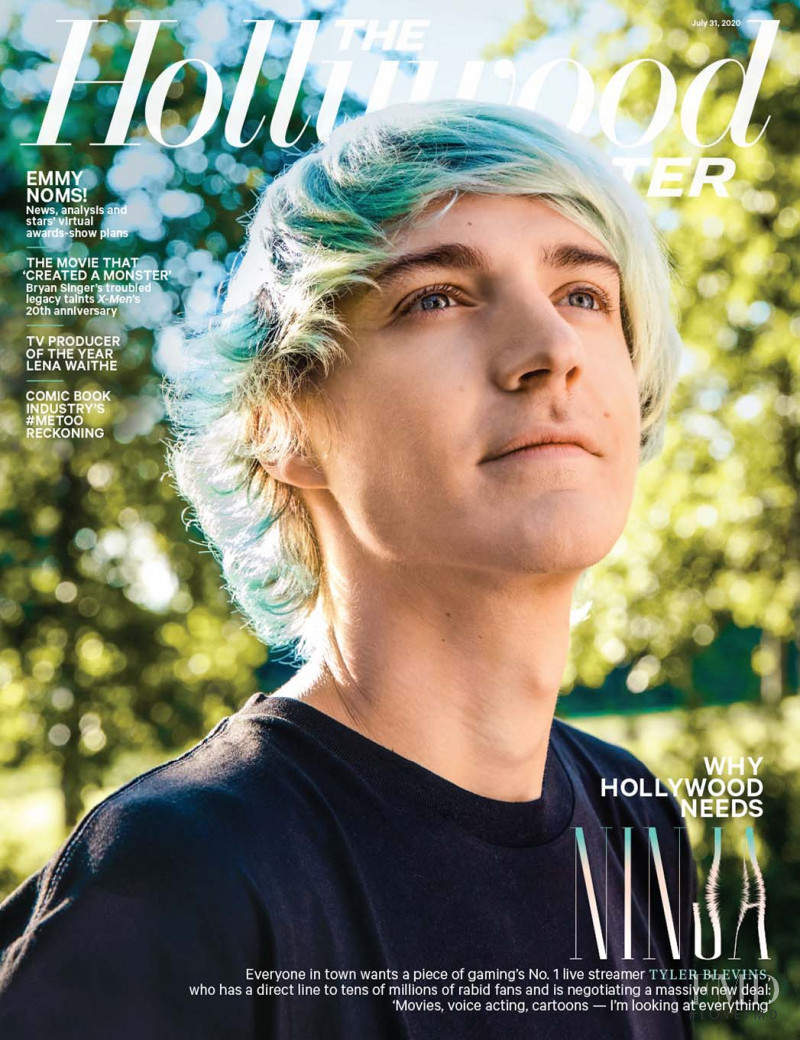 Tyler Blevins featured on the The Hollywood Reporter cover from July 2020
