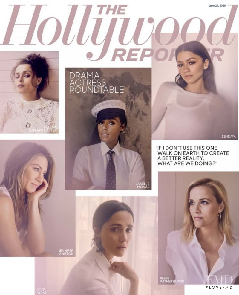 Zendaya, Janelle Monae, Helena Bonham Carter, Jennifer Aniston, Rose Byrne, Reese Witherspoon  featured on the The Hollywood Reporter cover from June 2020