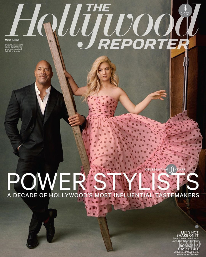 Dwayne Johnson, Ilaria Urbinati, featured on the The Hollywood Reporter cover from March 2020