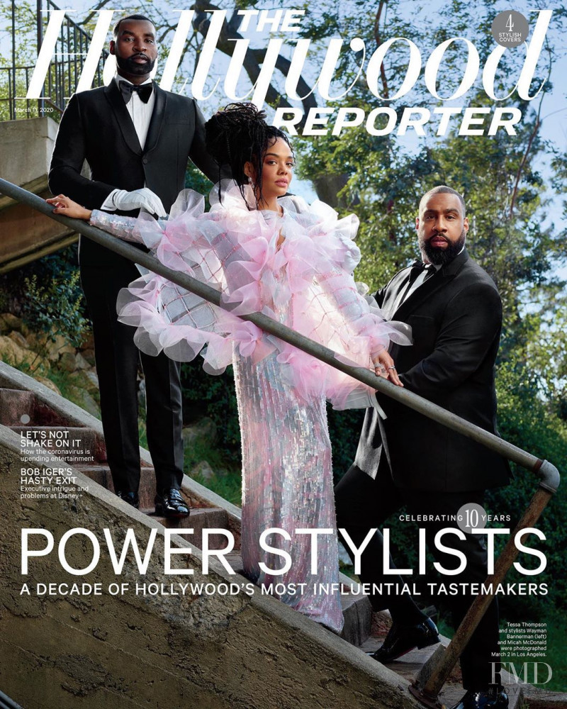Tessa Thompson, Wayman And Micah,  featured on the The Hollywood Reporter cover from March 2020