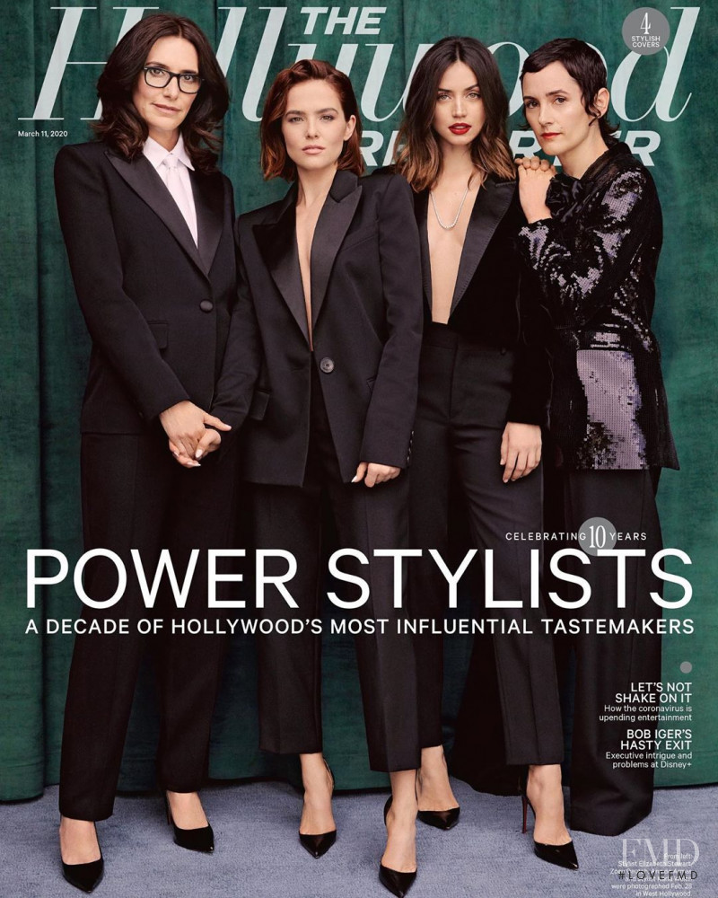 Zoey Deutch , Elizabeth Stewart,  Ana De Armas, Karla Welch featured on the The Hollywood Reporter cover from March 2020