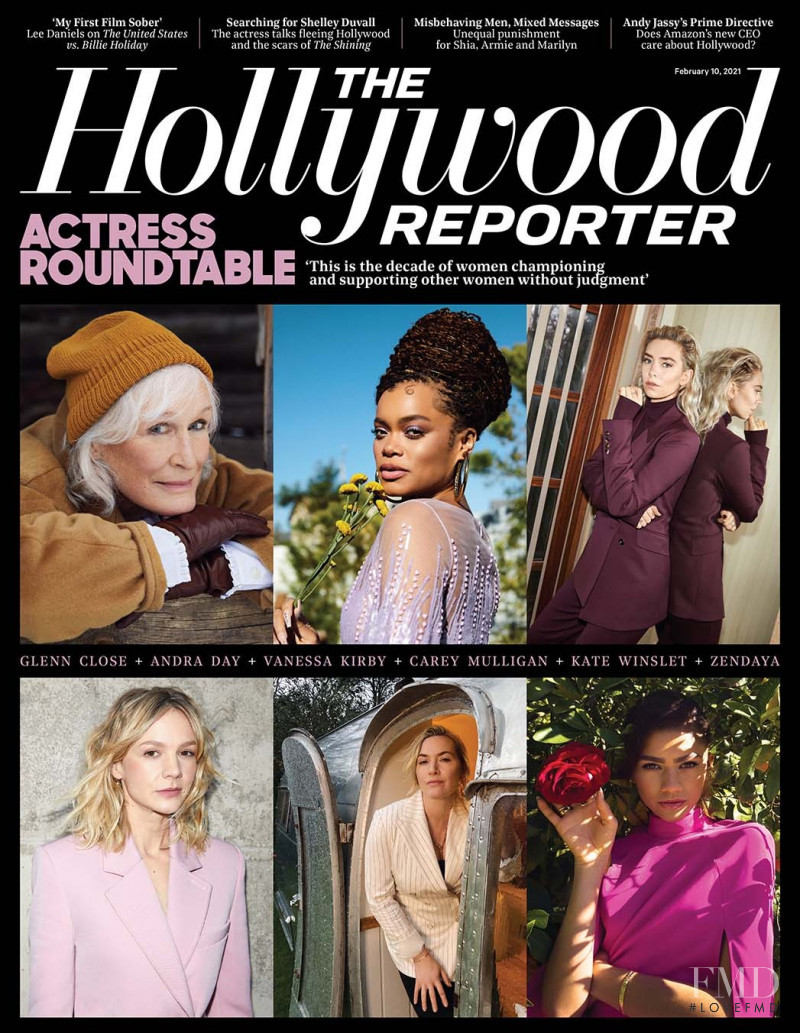 Zendaya, Kate Winslet, Carey Mulligan, Vanessa Kirby, Andra Day, Glenn Close featured on the The Hollywood Reporter cover from February 2021