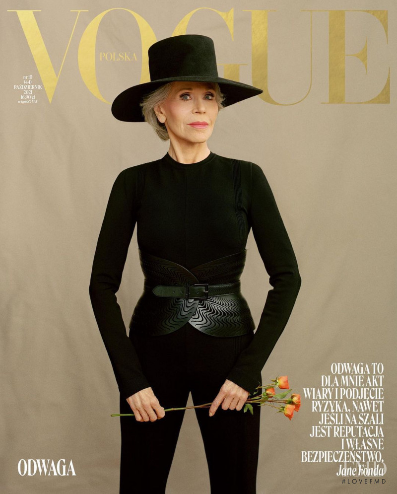 featured on the Vogue Poland cover from October 2021