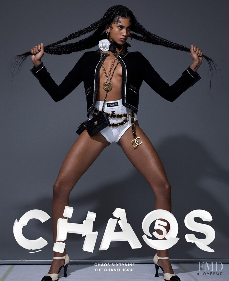 Imaan Hammam featured on the Chaos 69 cover from August 2020