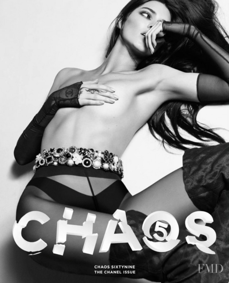 Kendall Jenner featured on the Chaos 69 cover from August 2020