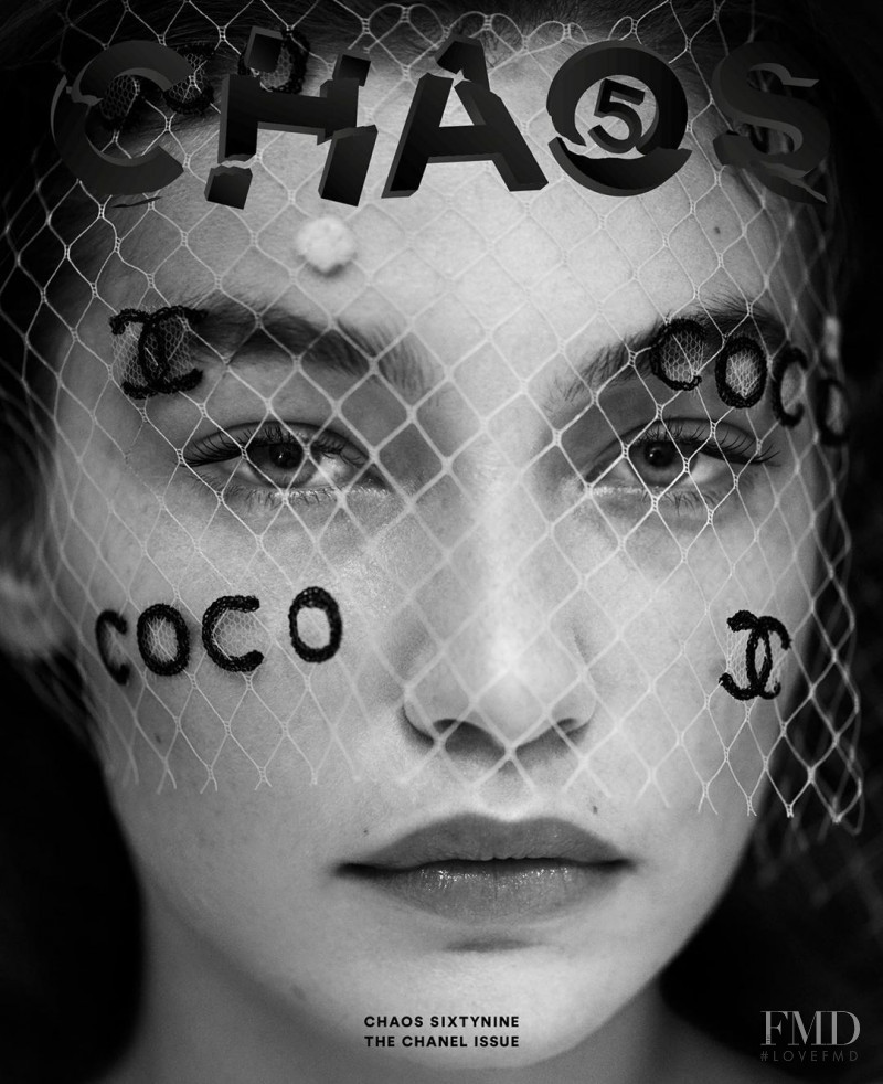 Gigi Hadid featured on the Chaos 69 cover from August 2020