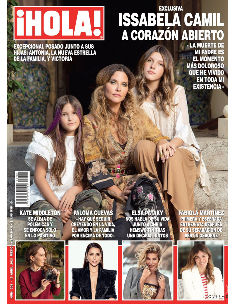 featured on the Hola! Mexico cover from April 2021