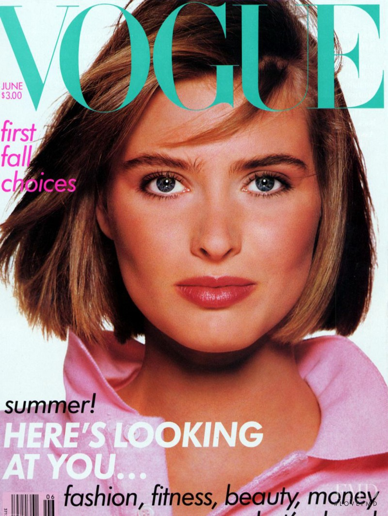 Cathy Fedoruk featured on the Vogue USA cover from June 1988