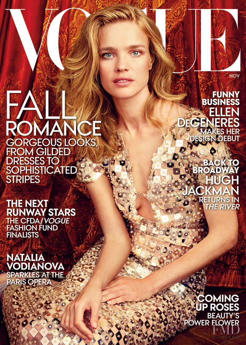 Natalia Vodianova featured on the Vogue USA cover from November 2014