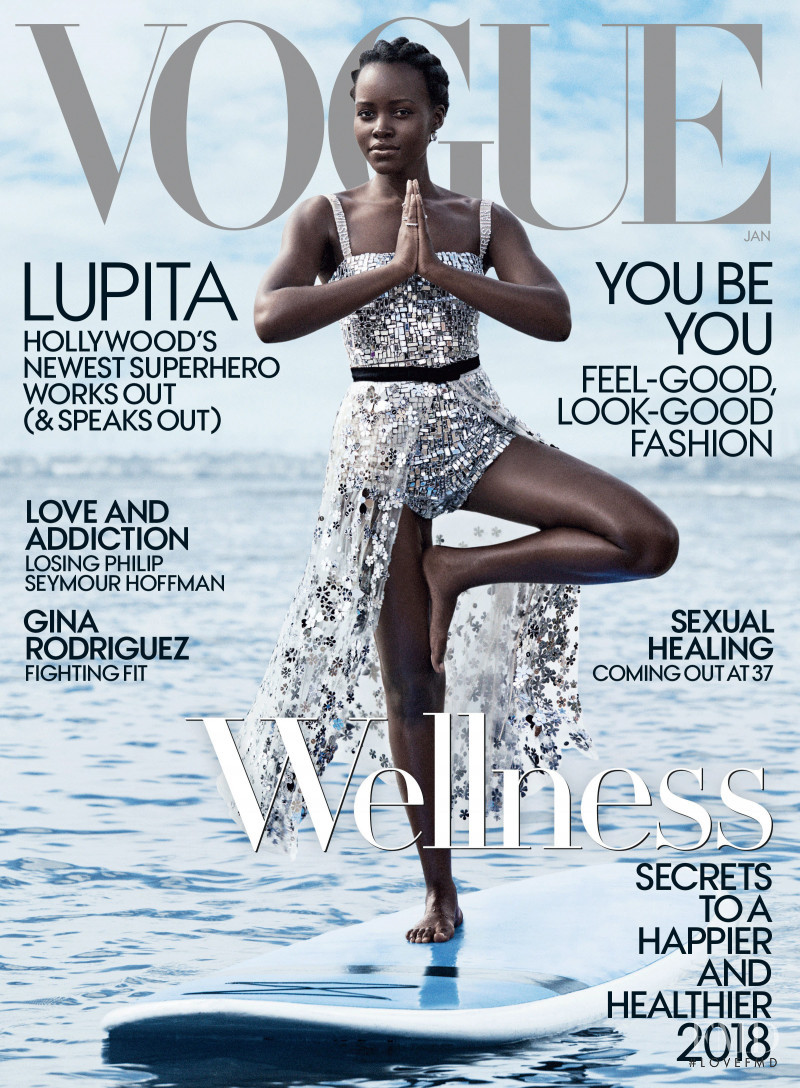 Lupita Nyong'o  featured on the Vogue USA cover from January 2018