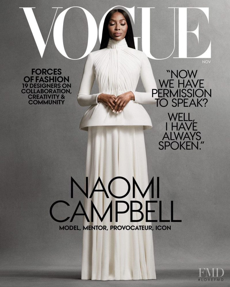 Naomi Campbell featured on the Vogue USA cover from November 2020