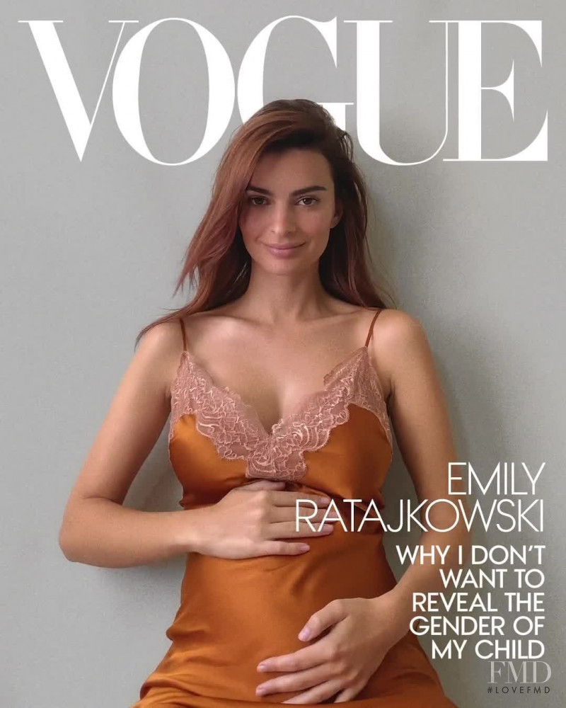 Emily Ratajkowski featured on the Vogue USA cover from October 2020
