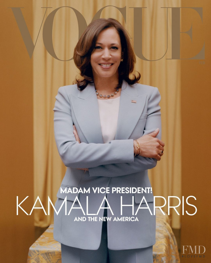 Kamala Harris featured on the Vogue USA cover from February 2021