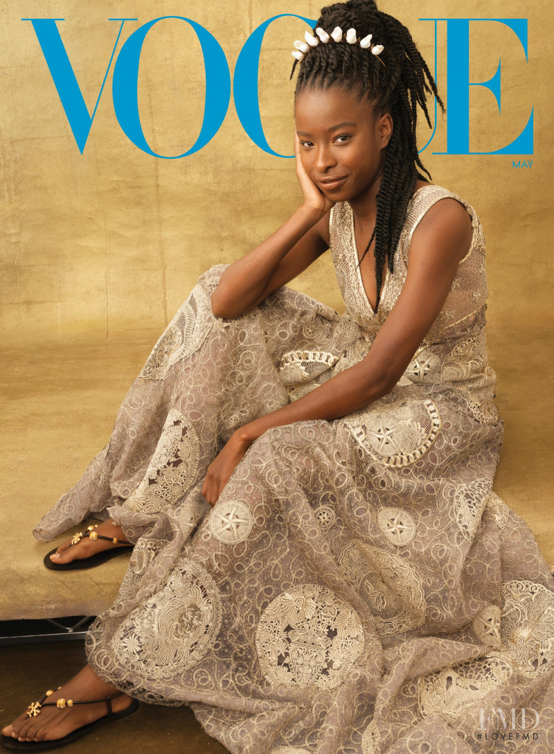 Amanda Gorman featured on the Vogue USA cover from May 2021