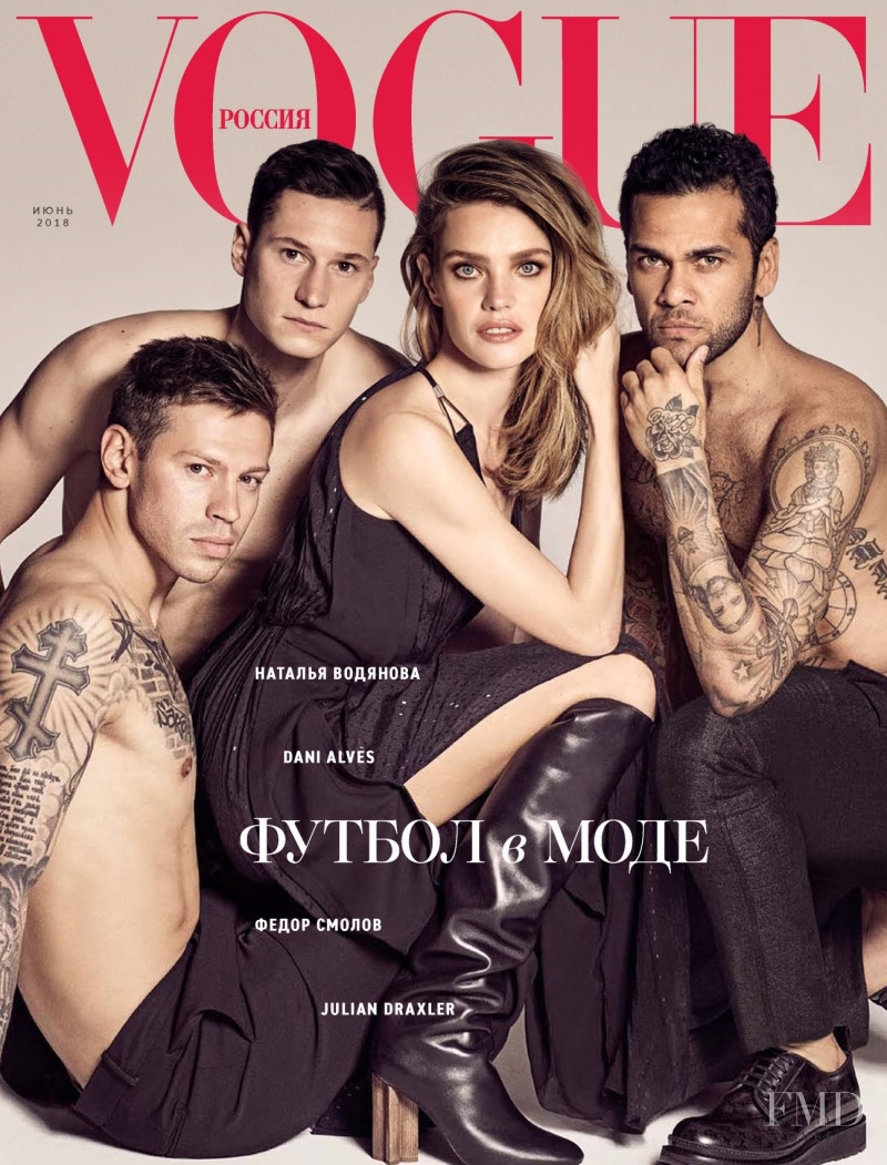 Natalia Vodianova featured on the Vogue Russia cover from June 2018
