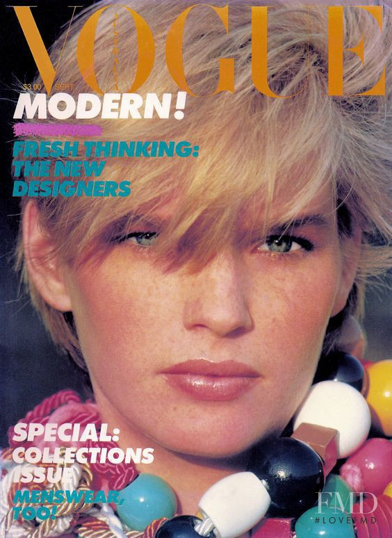 Carol Jackson featured on the Vogue Australia cover from September 1982