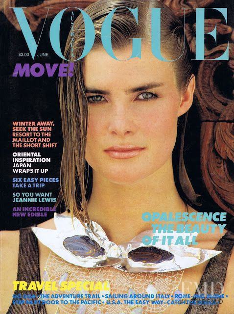 Kirsteen Price featured on the Vogue Australia cover from June 1984