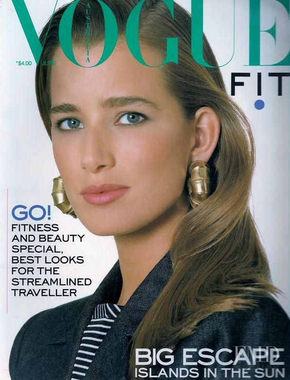 Suzanne Lanza featured on the Vogue Australia cover from June 1987