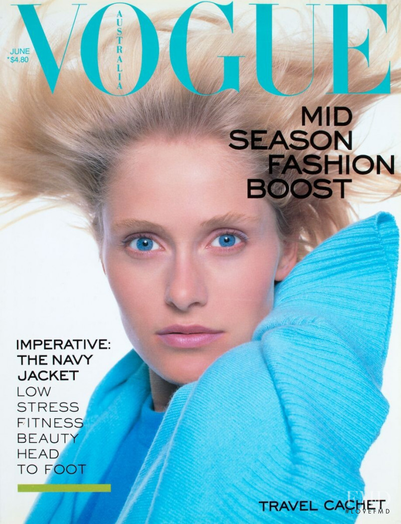 Helle Grimmer featured on the Vogue Australia cover from June 1988