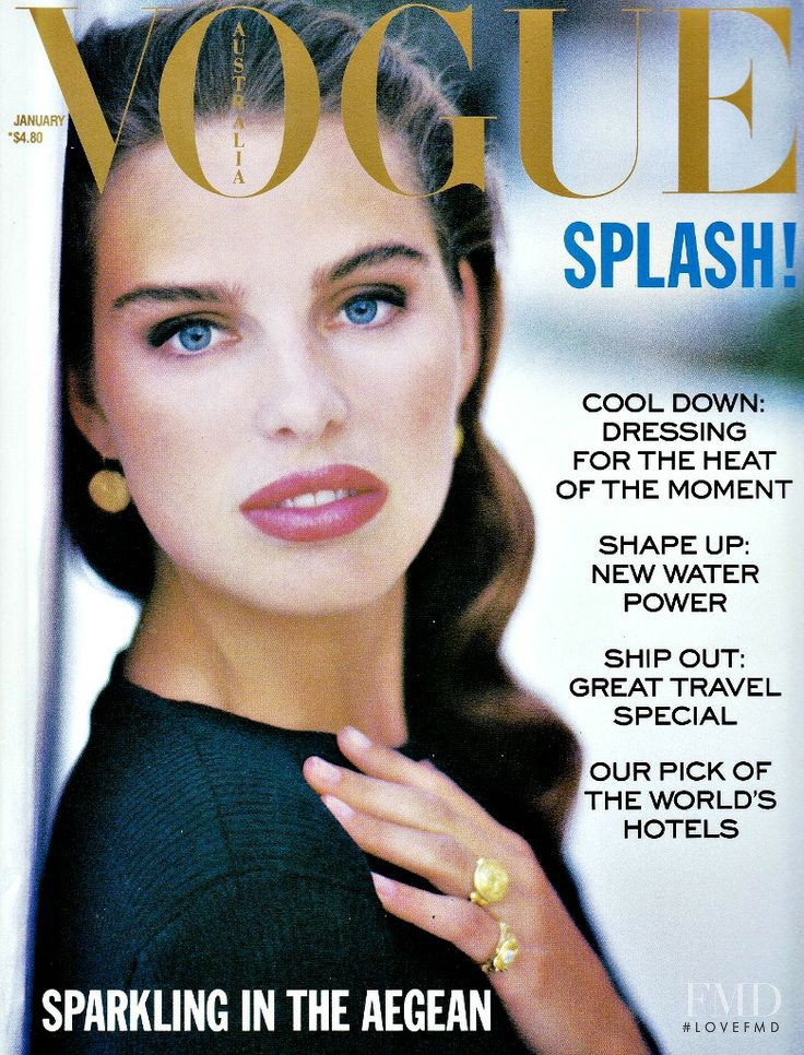 Hilde Nedrehagen featured on the Vogue Australia cover from January 1989