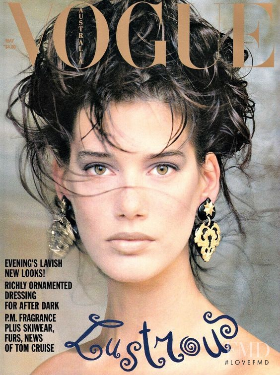 Ruve Watts featured on the Vogue Australia cover from May 1989
