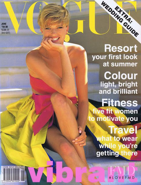 Jenny Hayman featured on the Vogue Australia cover from June 1991