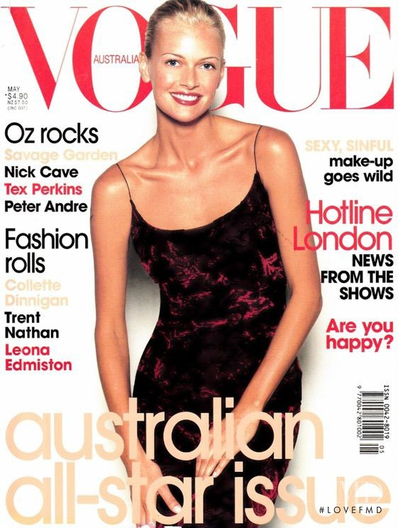 Sarah Murdoch featured on the Vogue Australia cover from May 1998